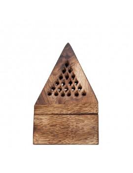 Support Encens Pyramide Bois