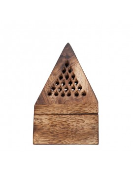 Wooden Pyramid Incense holder