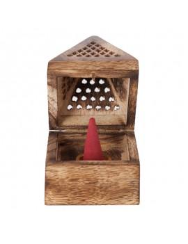 Wooden Pyramid Incense holder