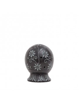 Soapstone Black Ball Incense holder