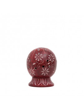 Soapstone Red Ball Incense holder