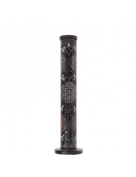 Soapstone Black column Incense holder