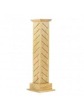 Clear Wood Column Incense Holder