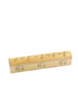 Wooden Extented Trunk Incense Holder