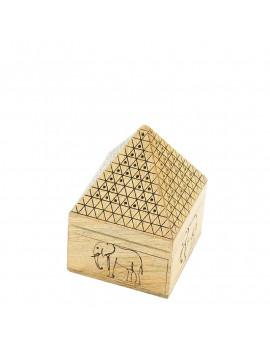 Wooden Elephant Pyramid Incense Holder