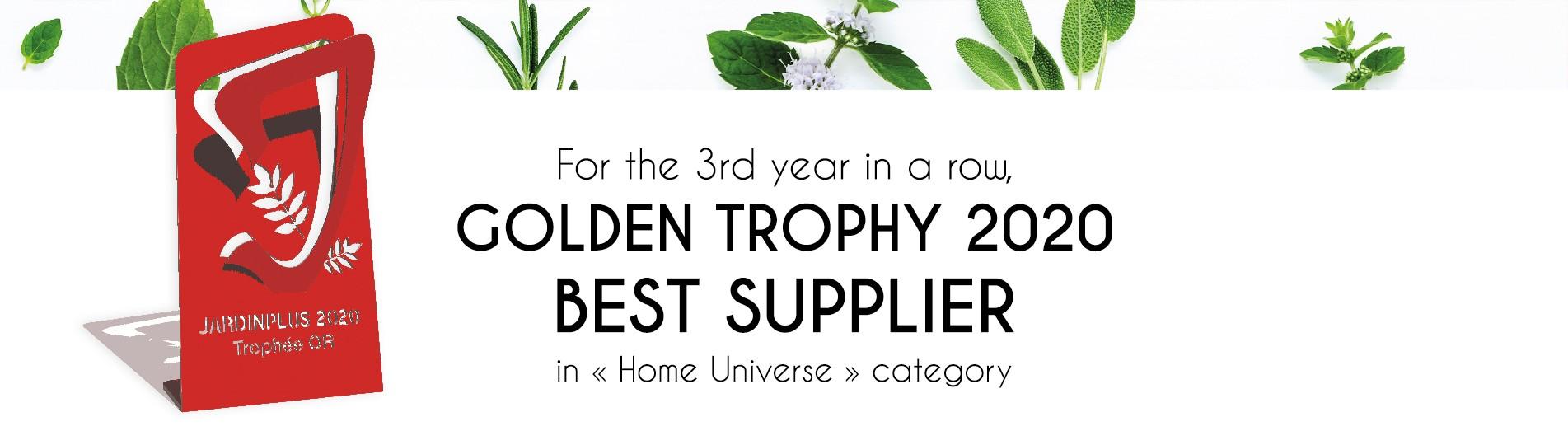 Trophée d'Or 2020 du meilleur fournisseur dans la famille « Univers Maison »