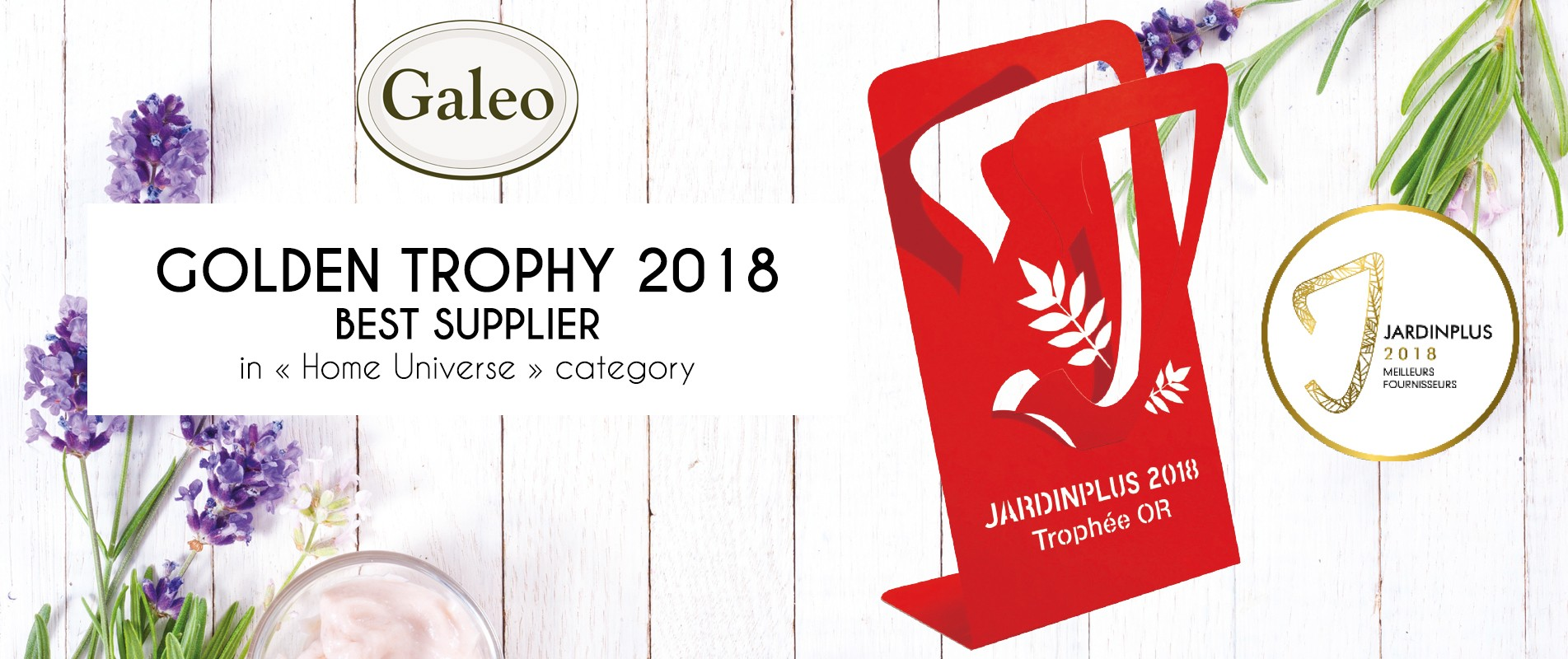 Golden trophy 2018 best supplier in home universe category